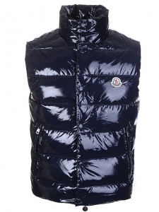 Cheap Moncler Vest Men Black With High Collar MC1196 Sale