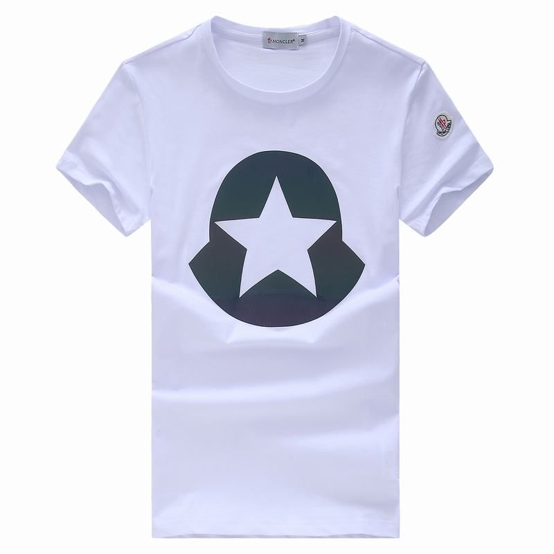 2018 Moncler New Italy Silk Cotton Limited T Shirt Big Five-pointed Star LOGO White